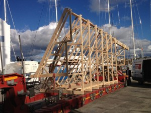 Transport of masts and rigging